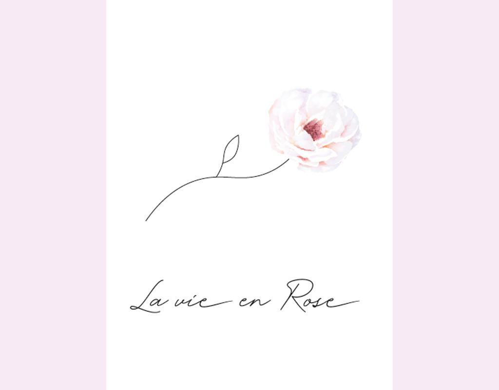 Studio 95 poster illustratie kinderkamer la vie en roos