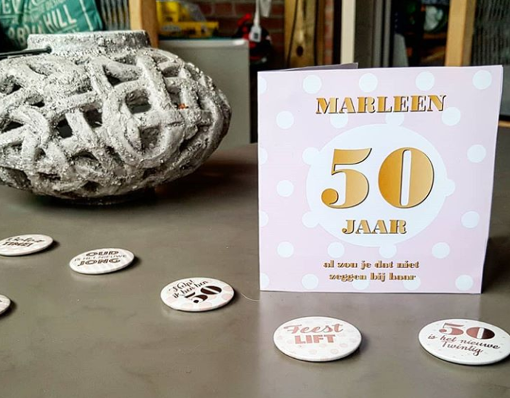 Verjaardagskaart voor Marleen