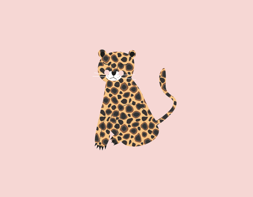 Studio 95 poster kinderkamer illustratie tijger