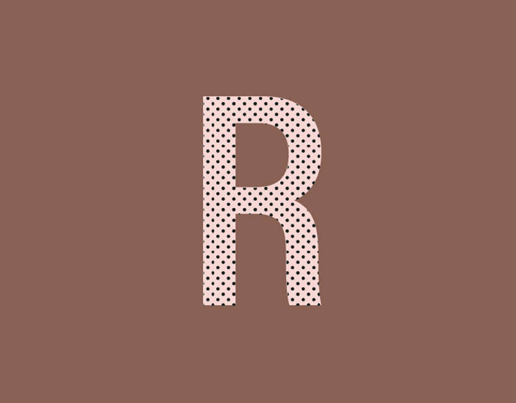Studio 95 poster villustratie letter r