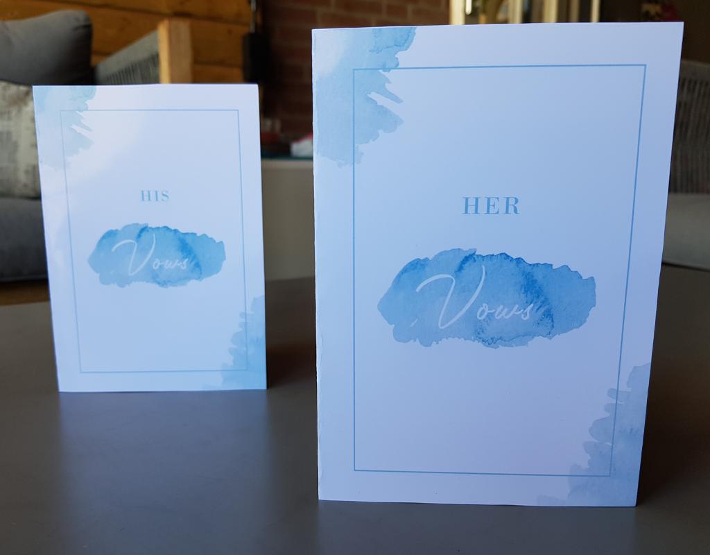 Studio 95 bruiloft geloftenkaart r en l