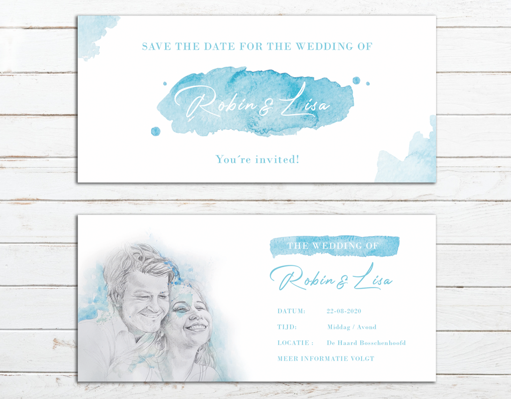 Bruiloft stationery logo kaarten en meer