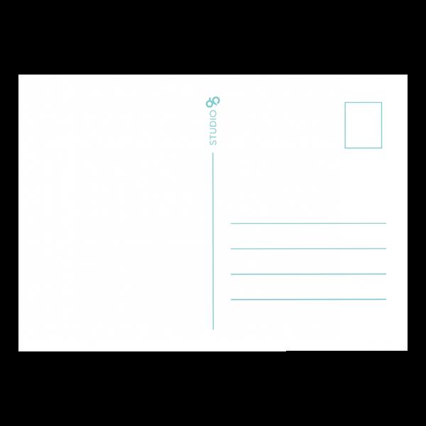 Papieren knuffel kaart Studio 95 back
