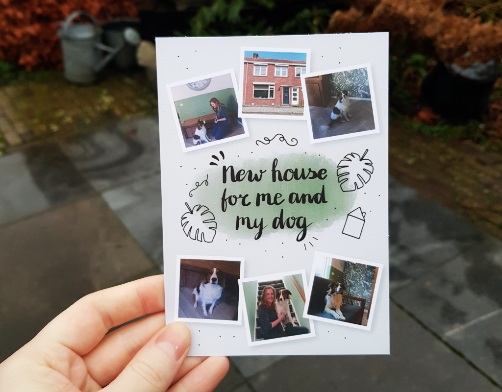 Handgeschreven verhuiskaart voor Laura