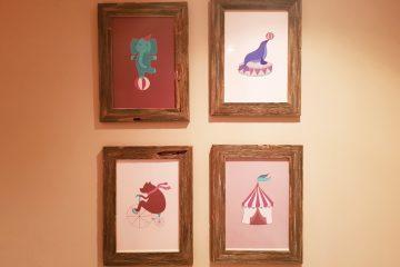 Studio 95 Geïllustreerde Posters Circus