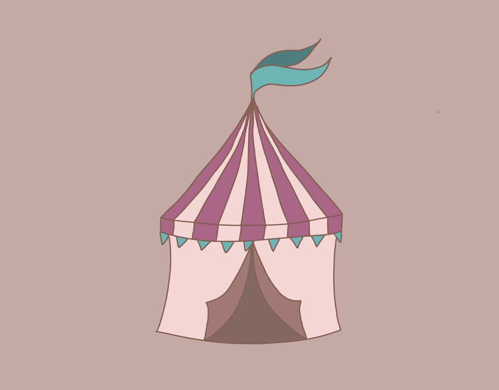 Studio 95 Geïllustreerde Posters Circus tent